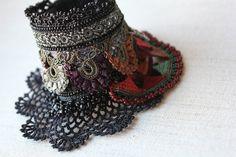 freeform crochet cuff bracelet
