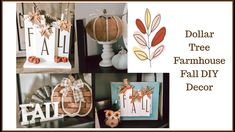 Dollar Tree Fall Farmhouse Decor | DIY | Home Decor - YouTube