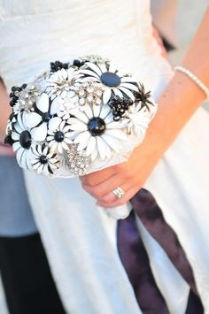 Brooch Bouquet ~ So unique what a great idea for centerpieces for a girls night