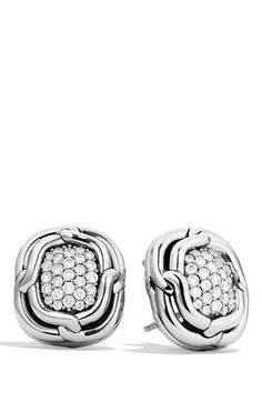 Women's David Yurman 'Labyrinth' Earrings with Diamonds - Diamond