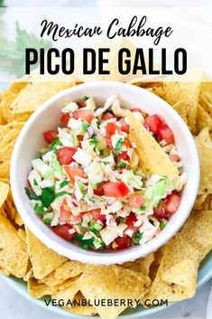 This delicious cabbage salsa is Mexican Pico De Gallo combined with fresh crunchy green cabbage and lemon or lime juice! An absolutely fabulous complement to almost any Mexican dish! Best Vegan Recipes, Raw Food Recipes, Mexican Food Recipes, Vegetarian Recipes, Ethnic Recipes, Mexican Desserts, Freezer Recipes, Freezer Cooking, Drink Recipes
