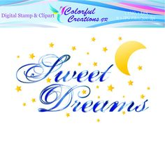 Sweet Dreams Digital Stamp For Personal And Commercial Use