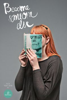 A series of print ads from a Lithuanian used bookstore.