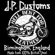 Judas Priest inspiriertes Hell Bent For Leather Biker T-Shirt