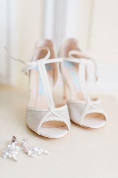 Charlotte Mills T-Bar Wedding Shoes - Katy Melling Photography | Vintage wedding at Eshott Hall, Northumberland | Rosa Clara Wedding Dress | Red Flowers