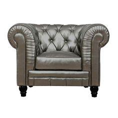TOV Zahara Club Chair Color: Silver