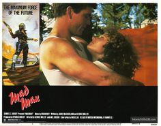 Mad Max - Lobby card with Mel Gibson & Joanne Samuel