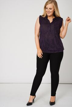 Button Front Sleeveless Top ~ £11.99