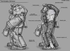 Warhammer 40000 Terminator armour (art by Gray Skull)