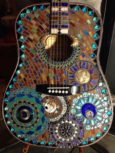 Mosaic Guitar by Glass Artist Barb Stigen.