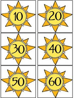 Here's a set of cards for skip counting by 10s to 120. Includes a recording sheet.