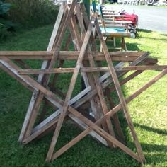 birch trees, scrap wood, or yard sticks? for the back yard or porch