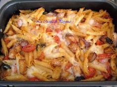 Le penne alla caporalessa, una ricetta di pasta strepitosa Penne, Al Forno Recipe, Almond Paste Cookies, Pasta Recipes, Cooking Recipes, Italy Food, Just Cooking, Pasta Dishes, Italian Recipes