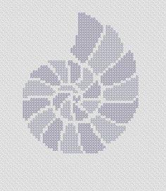 Seashell. Instant Download PDF Cross Stitch Pattern by PatternBird