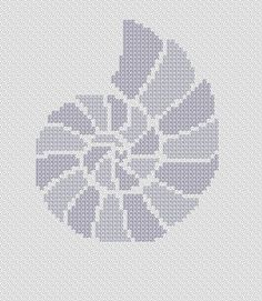 Seashell. Instant Download PDF Cross Stitch Pattern by PatternBird