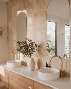 Decoration Inspiration, Bathroom Inspiration, Bathroom Inspo, Bathroom Interior Design, Interior Decorating, Laundry In Bathroom, Beautiful Bathrooms, Home Bedroom, Arch Mirror