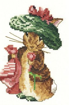Tale of Benjamin Bunny Cross Stitch Pattern