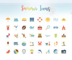 Download these useful and colourful summer icons for free. :D http://provide.smashingmagazine.com/Freebies/freebie-summer-icon-set.zip
