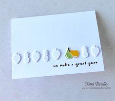 We make a great pear - Fruit Basket Bundle - Stampin' Up! - Fiona Bradley #inkitstampit