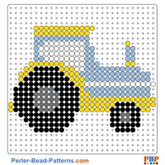 Tractor perler bead pattern. Download a great collection of free PDF templates for your perler beads at perler-bead-patterns.com