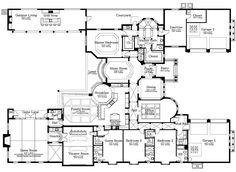 Floor Plans Blueprints House Plans Home Construction Plans 6 Bedroom House Plans, Dream House Plans, Modern House Plans, Small House Plans, House Floor Plans, Home Design Plans, Plan Design, Design Ideas, Modern Mediterranean Homes