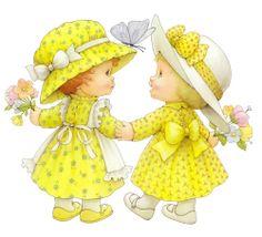 Twee Meisjes in het Geel