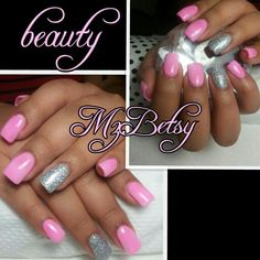 Baby pink and bling!! Simple and cute!