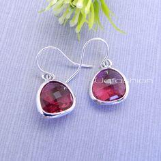 Bridesmaid Gifts, Red Earrings, Valentine Jewelry, Gold, Dangle Earrings, Valentines Gift, Jewelry Bridesmaid Earrings