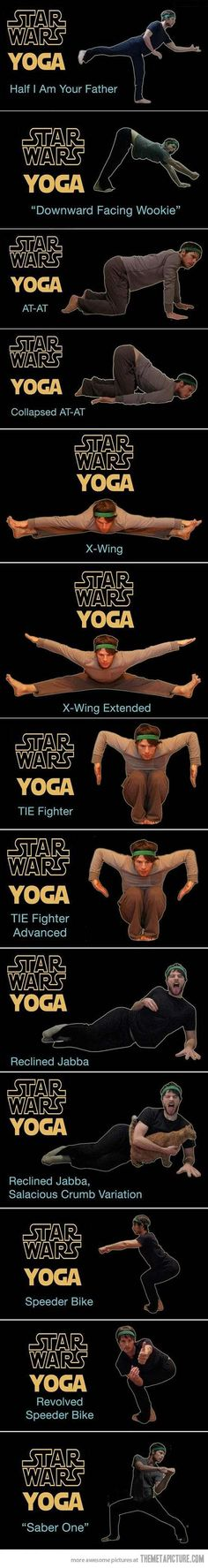 Star Wars Yoga… Yoga I could actually get my husband to do with me