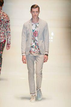 Floral prints for men: Gucci SS 2014 men's floral clothing