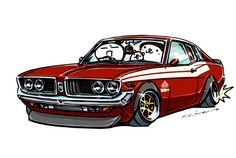 """crazy car art"" jdm japanese old school ""CORONA MARK"" original characters ""mame mame rock"" / © ozizo Official web shop ""STAY CRAZY (in Society6)"" Official web shop ""ozizo(in Redbubble)"" ""Crazy Car Art"" Line stickers ""Crazy car Art"" Telegram stickers"