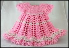 Crochet Baby Dress/ Shells and lacy dress - Video 1 / subtitulos en espanol