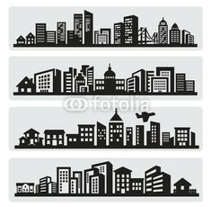 City silhouette cameo