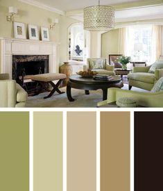 Gorgeous living room color schemes with oak trim #livingroompaintcolorideas #livingroomcolorscheme #colourpalette