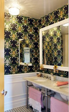 Manhattan Nest | Ana Gasteyer's Bathroom Makeover featuring Pineapple (Ebony)
