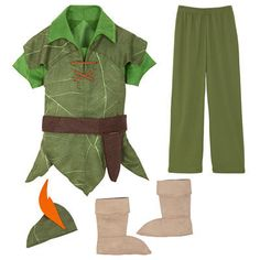 Peter Pan Costume for Kids  sc 1 st  Pinterest & Peter Pan costumes from everyday clothes | Boo! Itu0027s Halloween ...