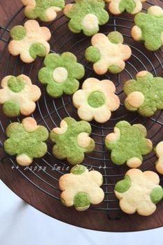 「抹茶の水玉クッキー。」ChococoHS | お菓子・パンのレシピや作り方【corecle*コレクル】