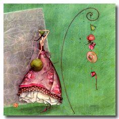 Gaelle Boissonnard Friendship Seasonal Any Occasion Card Marie Cardouat, Art Fantaisiste, Art Carte, Art Et Illustration, 3d Prints, Art Moderne, Naive Art, French Artists, Whimsical Art