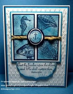 SUO61 True Blue Sympathy- Card#2 by Julie Gearinger - Cards and Paper Crafts at Splitcoaststampers