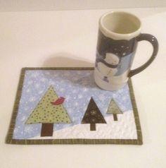 Quilted Christmas Mug Rug