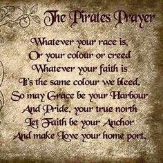 Pirates prayer- t-shirt sale Pirate Decor, Pirate Art, Pirate Ships, Pirate Quotes, Pirate Sayings, Pirate Code, Pirate Ship Tattoos, Pirate History, Bear Tattoos