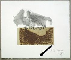 Artist: Antoni Tàpies,  title: Variation 4 on the right angle,  technology: Etching, carborundum, aquatint, Vernis Mou