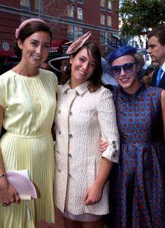 Claire Lademacher, Princess Alexandra and Princess Marie-Gabrielle of Nassau   | The Royal Hats Blog