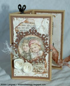 Kristins lille blogg: Brettet julekort av papirpose