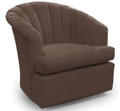 Beau This Adorable Swivel Barrel Glider Will Bring A Unique And Stylish Look To  Your Home. It Features A Classic Channel Back, T Cushion Seat And Rounded  Arms.