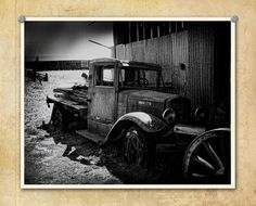 Car Photography Old Truck Junkyard by ThePDXPhotographer on Etsy