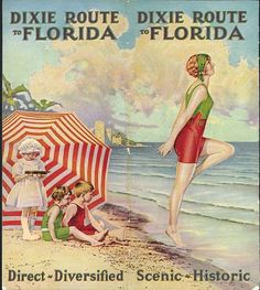 Vintage Travel Take the Dixie Route - Florida (U.) vintage travel beach poster www.it/en Vintage Florida, Old Florida, Florida Travel, Florida Girl, Vintage Poster, Vintage Travel Posters, Vintage Postcards, University Of Florida, Vintage Advertisements