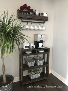 Industrial Coffee Bar Combination / Coffee Bar / Coffee Station / Coffee Bar Table / Coffee Storage/ Purchase Pair and Save - All About Decoration Coffee Bars In Kitchen, Coffee Bar Home, Coffe Bar, Coffee Bar Ideas, Coffee Cup, Coffee Bar Design, Coffee Maker, Coffee Bar Station, Home Coffee Stations