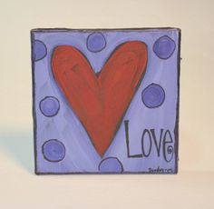 Mini Heart Canvas