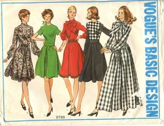 Vogue Sewing Pattern 2733 Misses' Dress in Four Lengths Size 10 Cut #VogueBasicDesign